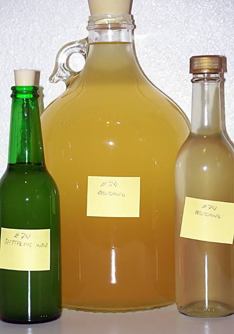 Oregano Wine after racking on 9/3/07