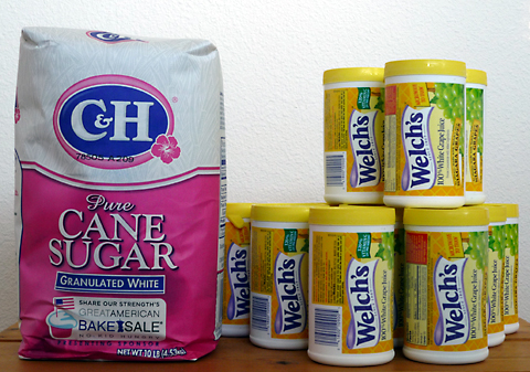 Turn Welch's grape juice and sugar into wine